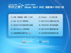 系统之家Ghost Win7 64位 极速装机版 2020.08